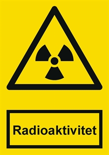 Radioaktivitet label