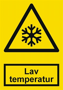 Advarsel lav temperatur label