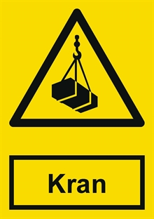 Advarsel kran label
