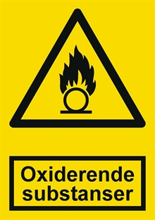 Advarsel oxiderende substanser label
