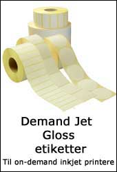 Demand Jet Gloss etiketter til brug i on demand inkjet printere